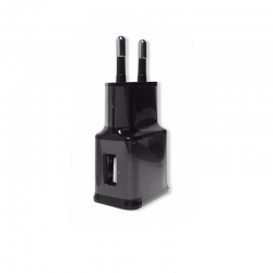 Wall charger 1 USB port, Black