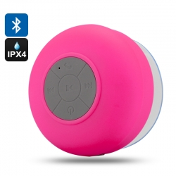 AquaSound - Bluetooth Speaker resistente all'acqua, microfono, risposta chiamata - Rosa