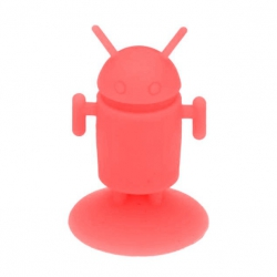 Android Robot shaped silicone stand Android - Red