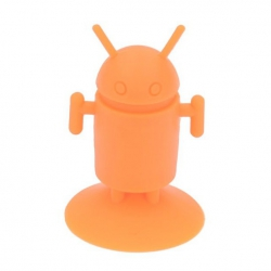 Android Robot shaped silicone stand Android - Orange