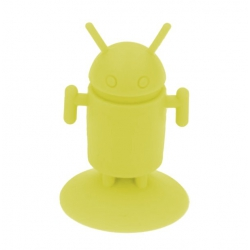 Android Robot shaped silicone stand Android - Yellow