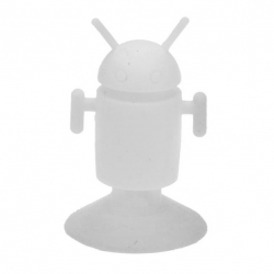 Android Robot shaped silicone stand Android - White