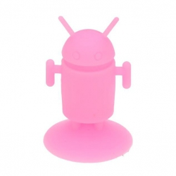 Android Robot shaped silicone stand Android - Pink