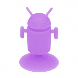 Android Robot shaped silicone stand Android - Violet