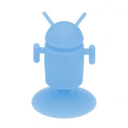 Android Robot shaped silicone stand Android - Light blue
