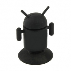 Android Robot shaped silicone stand Android - Black