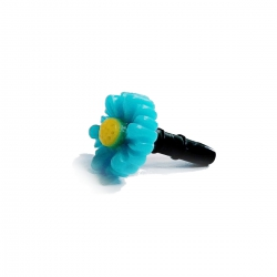 Dust plug flower - Light blue