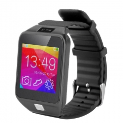 "Smart Bluetooth Watch, 1.5"", Bluetooth 4.0, Sedentary Reminder, Phone Sync - Nero"
